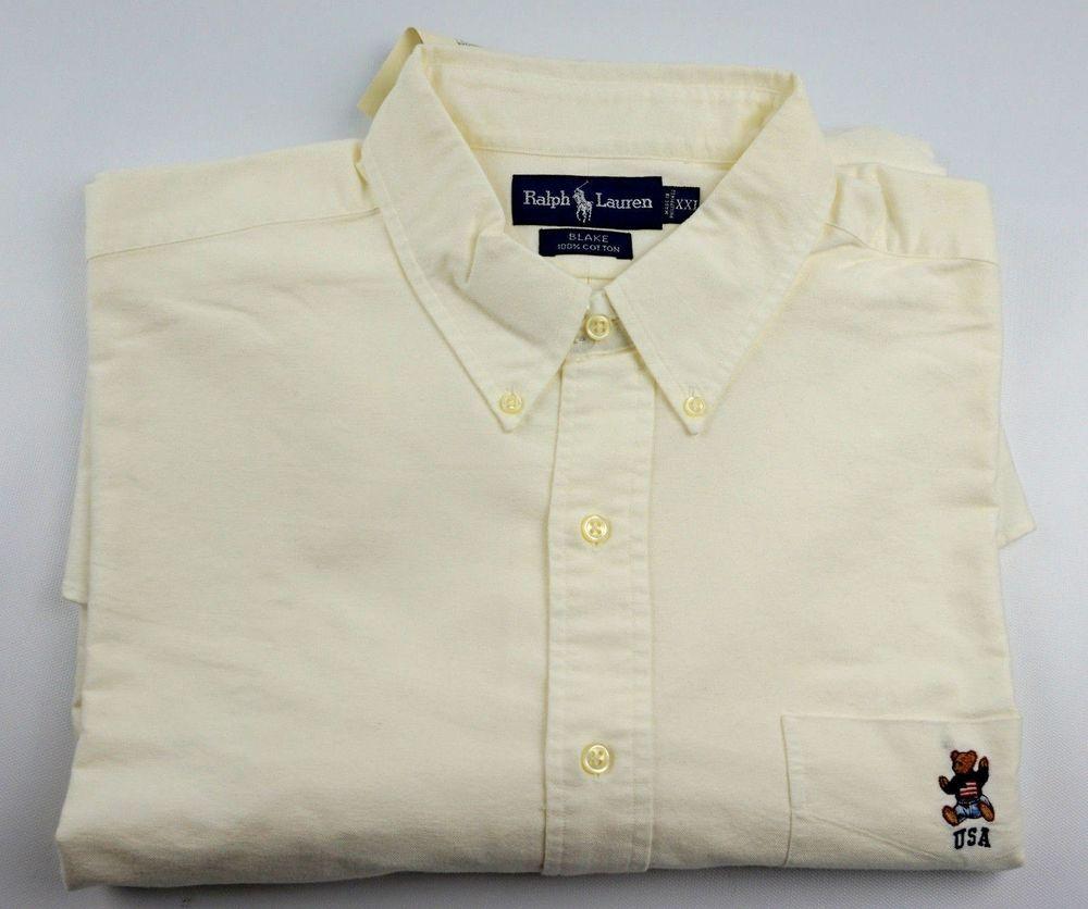 Size Men's Teddy Usa With Lauren Blake Bear Ralph Shirt Xxl Ivory lF1TKJc3