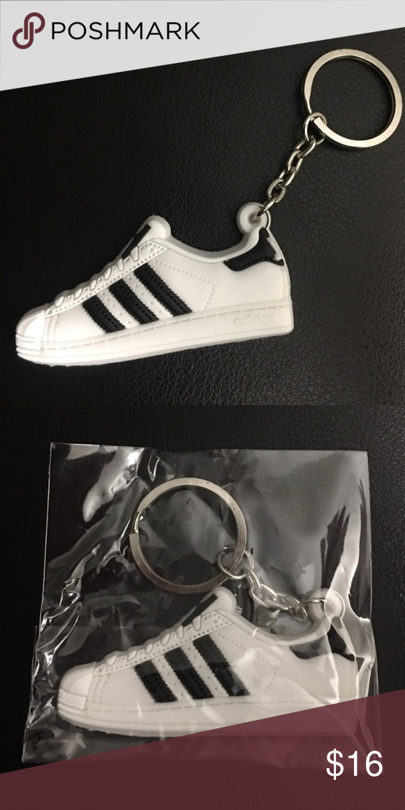 best loved 48d13 5039a Adidas Classic Shell-Toe Superstar Keychain Mini silicone Adidas Superstar  Shell-tops. Color  Classic White with black. Super cool looking, New in  package!