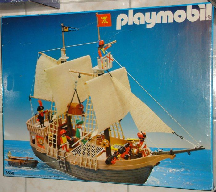 playmobil le bateau pirate vintage nostalgie enfance. Black Bedroom Furniture Sets. Home Design Ideas