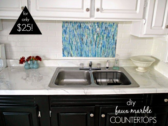 DIY Counters: Laminate To Marble For Only $25 (Great Detailed Tutorial)