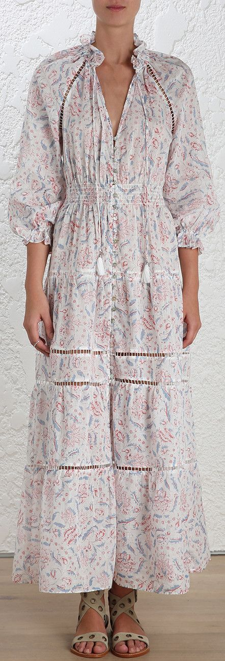 'Zephyr' Long Folk Dress