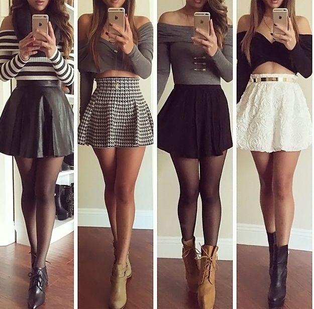 Vestidos de top y falda cortos