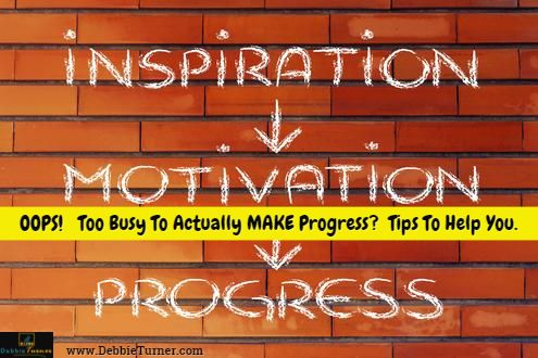Is Your Inspiration Keeping You Too Busy To Work? Sounds like a weird sentence doesn't it? But here's what I'm talking about....