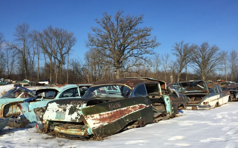 1957 Chevrolet TwoTen Sport Coupe Wrecking yards