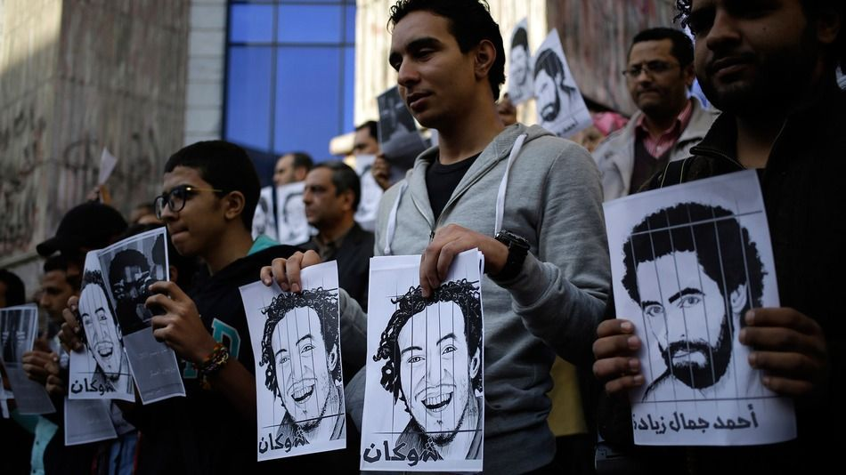 """Reporters in Egypt still face """"the false dilemma between freedom to work and ability to criticize the government."""""""