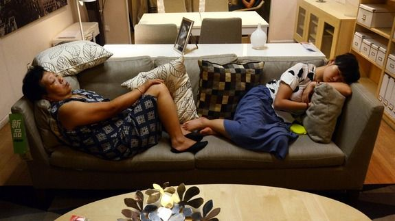 Beijing IKEA bans naps on display furniture, customers keep on doing it