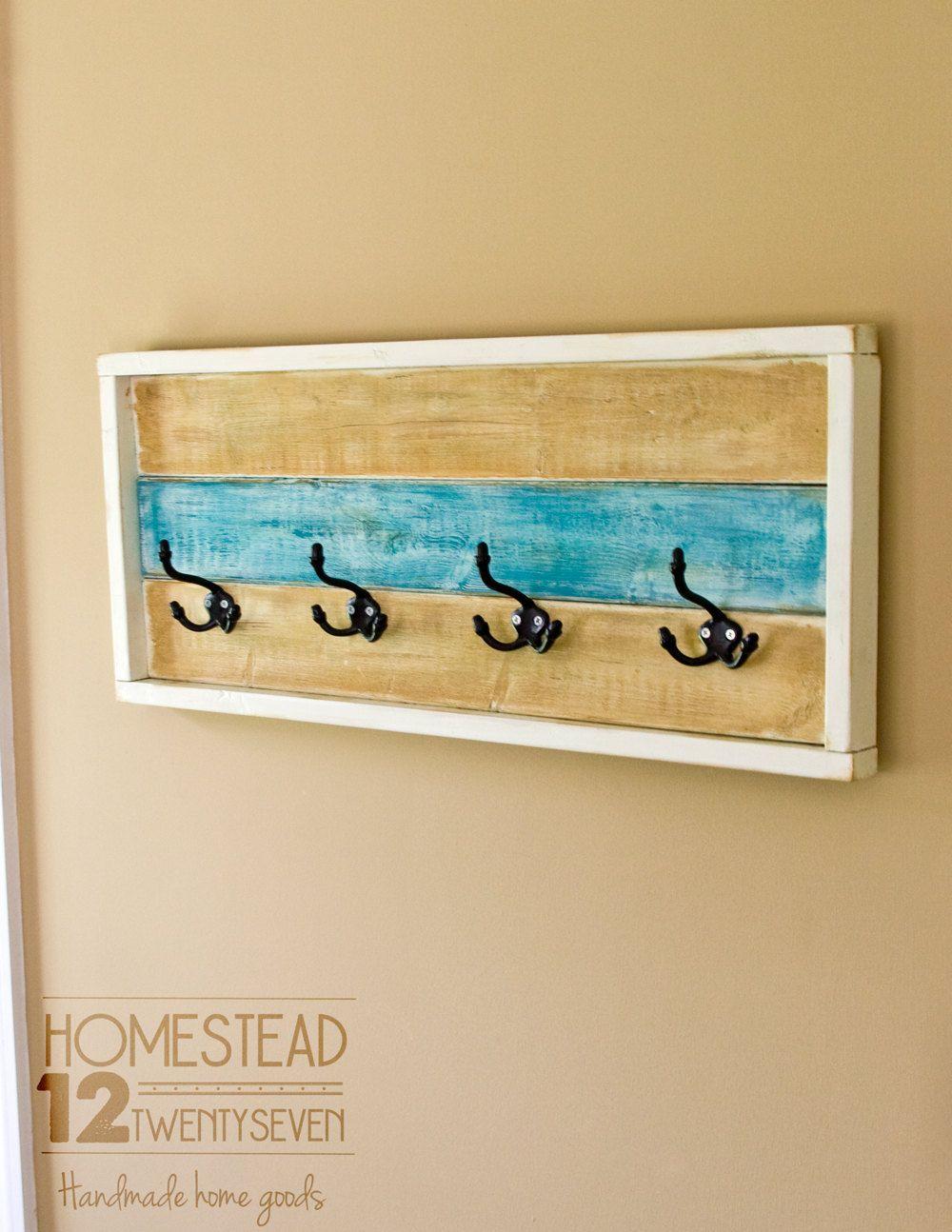 Rustic Coat Rack - Entryway Coat Rack - Decorative Towel Rack ...