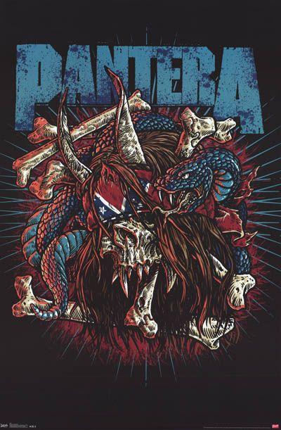 pantera band artwork pantera rocker skull band art phil
