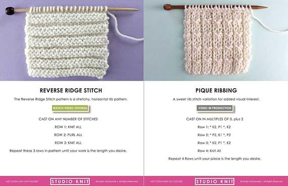 New Knit Stitch Pattern Book To Create Your Favorite Basic Knit