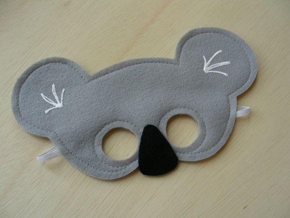 Koala Mask For Children By Mahalo On Etsy 1100