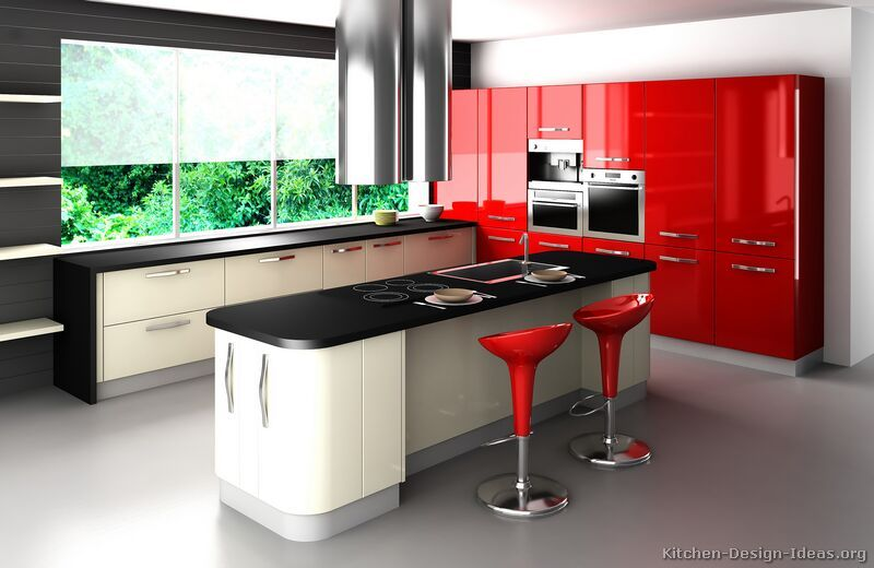 Retro Kitchen Design I Love These Colors Together How Fun Would Entrancing Kitchen Design Red And Black Review