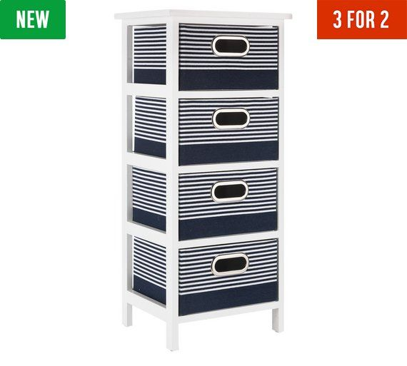 Buy Argos Home Nautical 4 Drawer Solid Wood Storage Unit ...