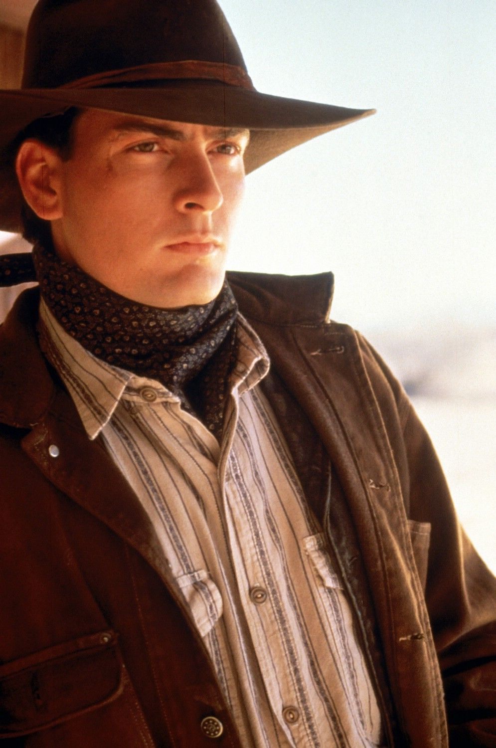 Charlie Sheen as Dick Brewer in Young Guns | ~♥ Faces ...
