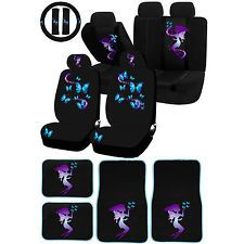UAA Fairy erfly magical Purple Blue Universal Seatcover Carpet ...