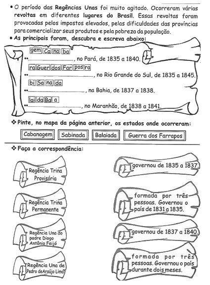 Blog Professor Zezinho : Atividades de História para 5 ...