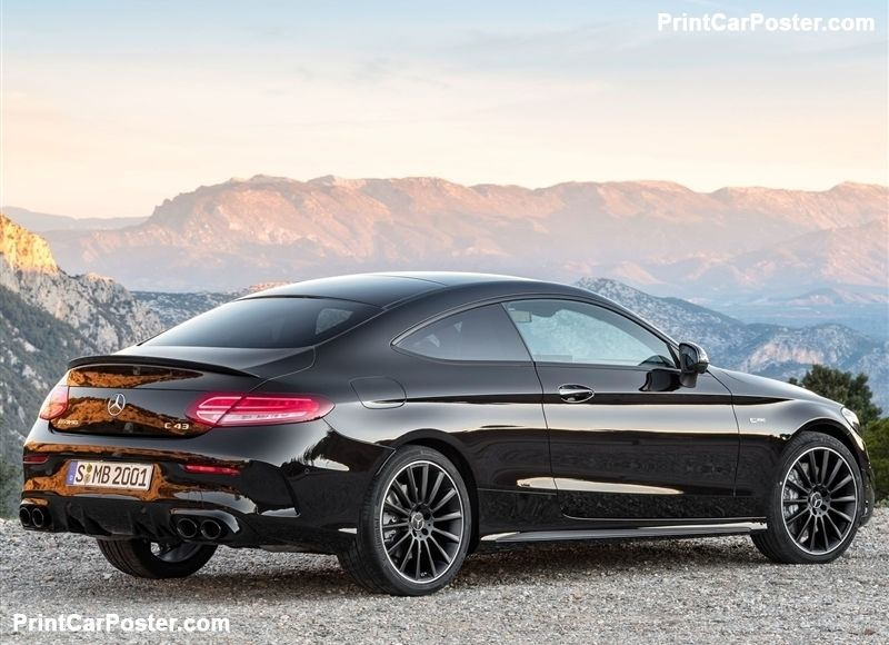 Mercedes Benz C43 Amg Coupe 2019 Poster With Images Mercedes