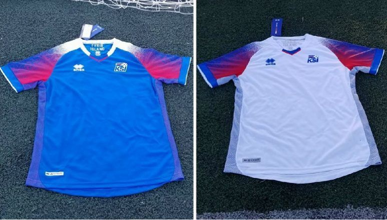 e2d15f5df99 Up-Close  Iceland 2018 World Cup Erreà Home and Away Jerseys ...