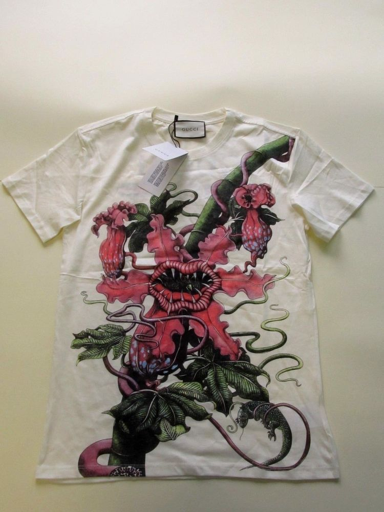 f5724b0e4 Gucci Carnivorous plant print cotton T-shirt Size L New 2018 #Gucci ...