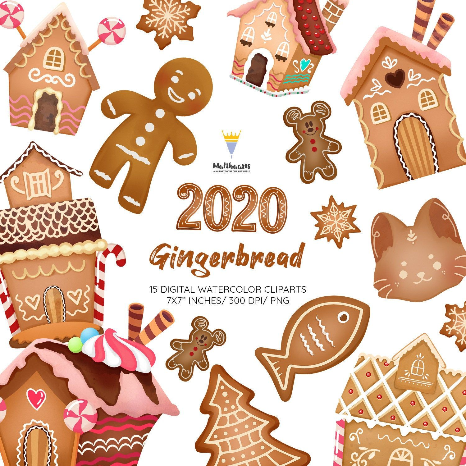 Gingerbread Clipart Christmas Clipart Cute Gingerbread