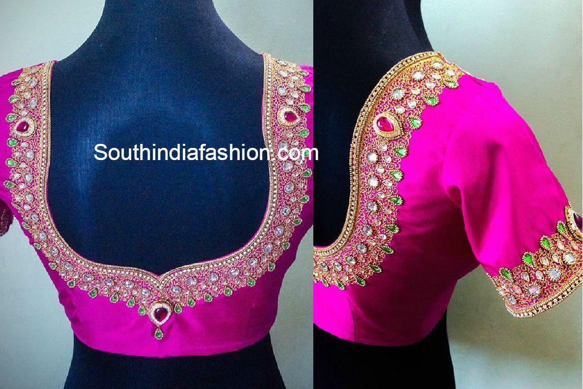 e710775f17 Maggam Work Blouse Designs   Blouse designs   Blouse designs, Silk ...