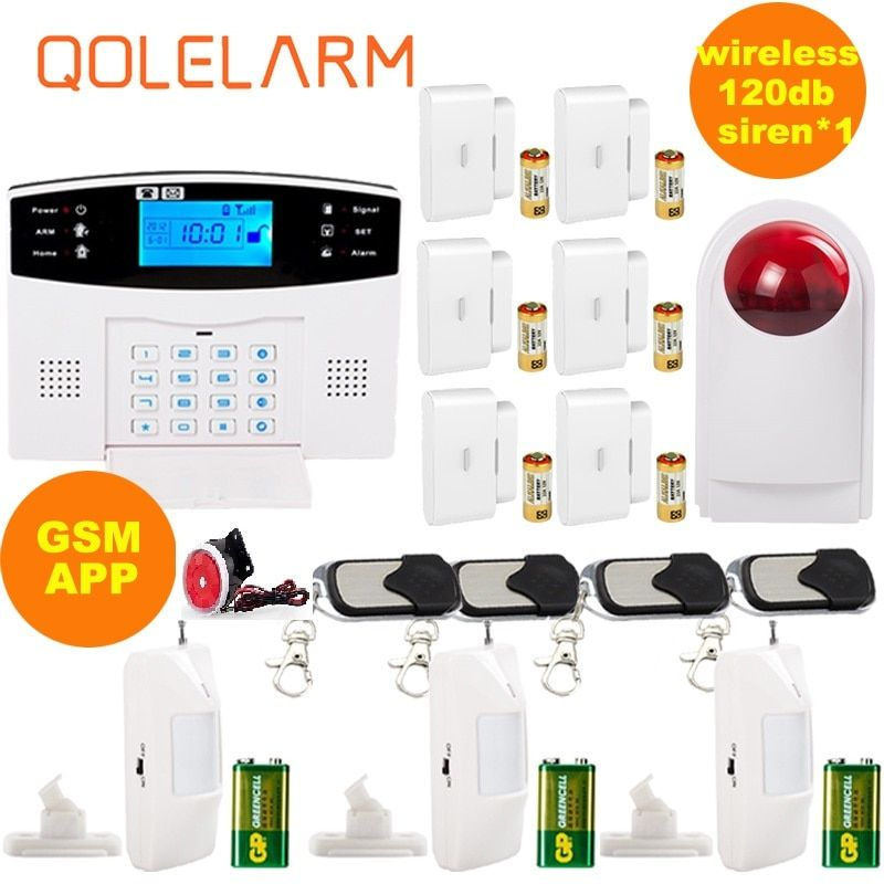 Russian Spanish Voice Prompt Intercom Sim Gsm Wireless Alarm System App Control Smart Home Burglar Security Alarm System Kit Russian French Spanish Italian