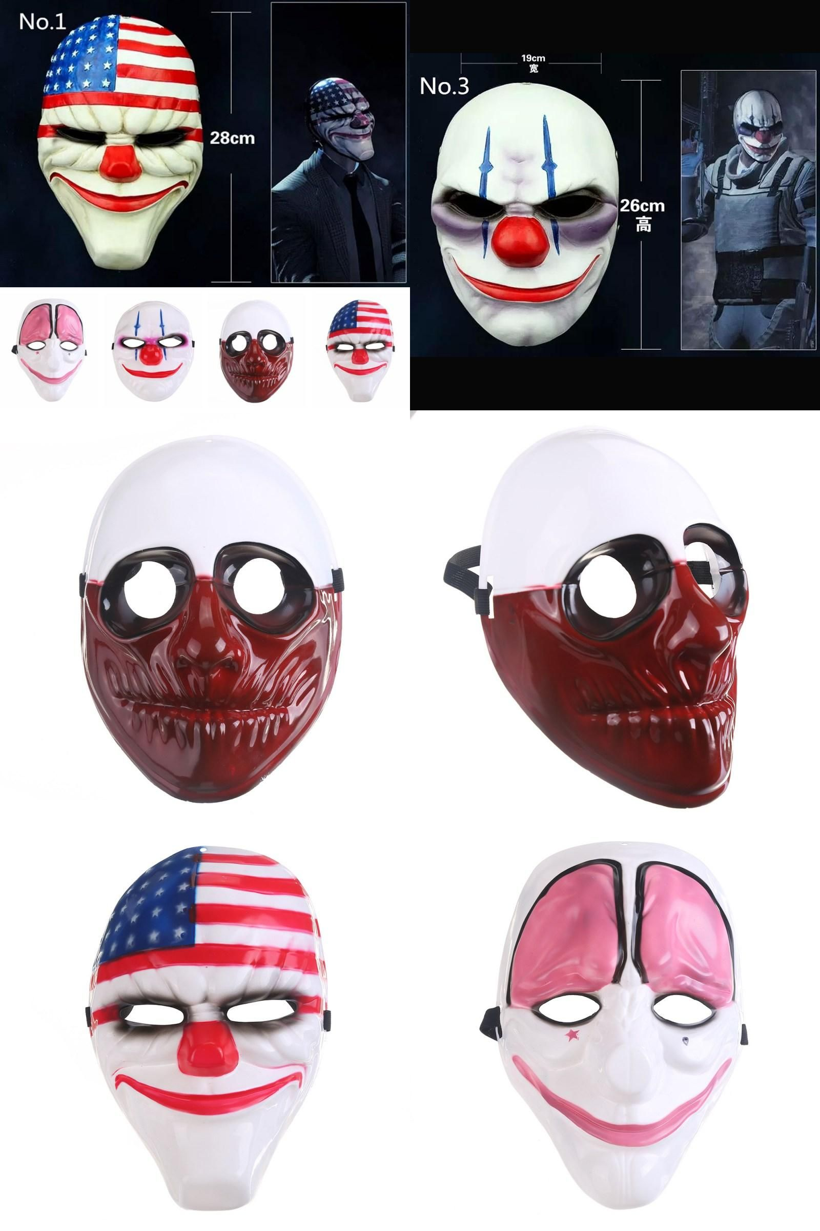 Visit to Buy] 2017 Party Mask MasquWholesale PVC Scary Clown Mask ...
