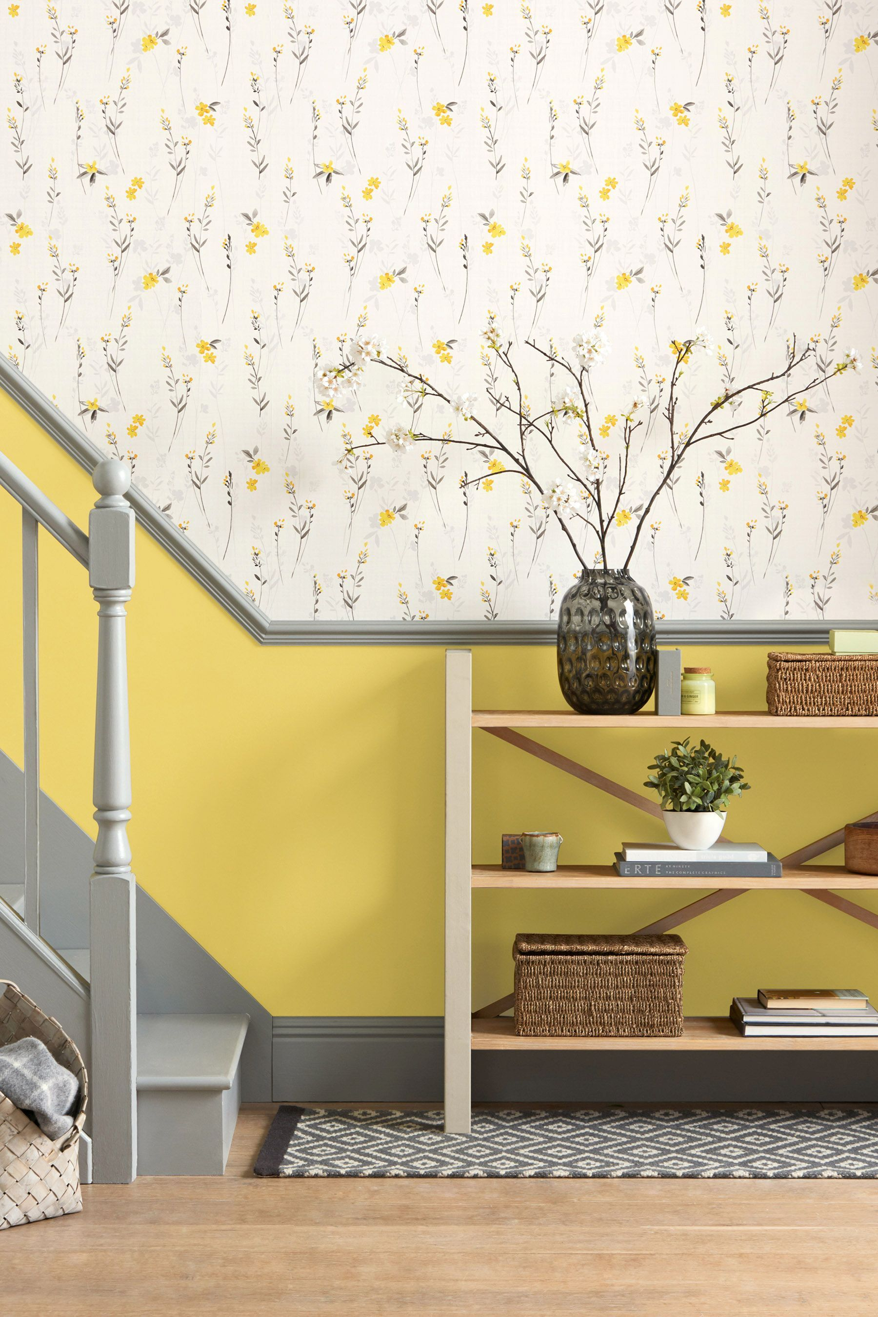 Paste The Wall Eden Floral Wallpaper in 2020 Colourful