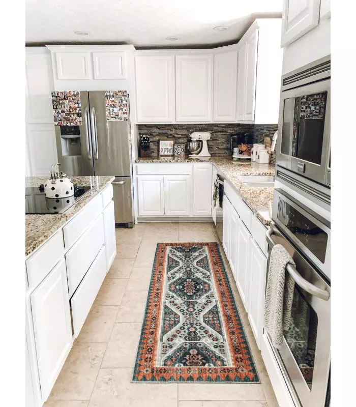 Buttercup Diamond Vintage Persian Woven Rug Opalhouse In 2020 Kitchen Rug Bright Kitchens Kitchen Rugs Sink