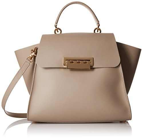 Zac Zac Posen Eartha Iconic Top Handle Shoulder Bag Beige