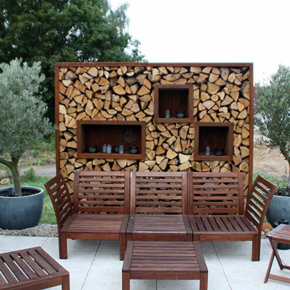 Bildergebnis Fur Sichtschutz Mit Brennholz Sichtschutz Garten Holz Holzlager Sichtschutz Garten
