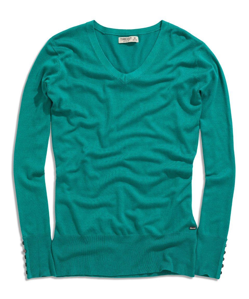 Loving this Menthol V-Neck Sweater on #zulily! #zulilyfinds