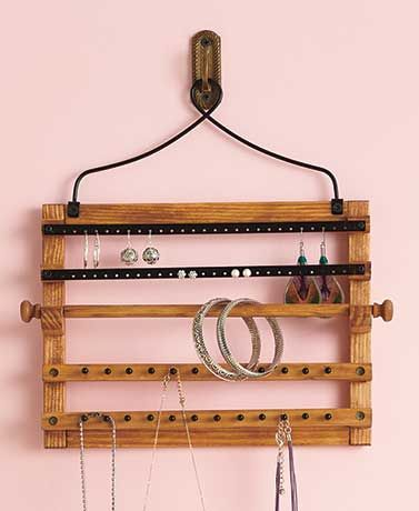 Hanging Wood Jewelry Organizers Woods and Gift