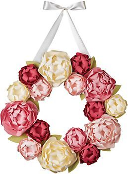 Peony Wreath Kit Paper Source Craftiness Pinterest Wreaths