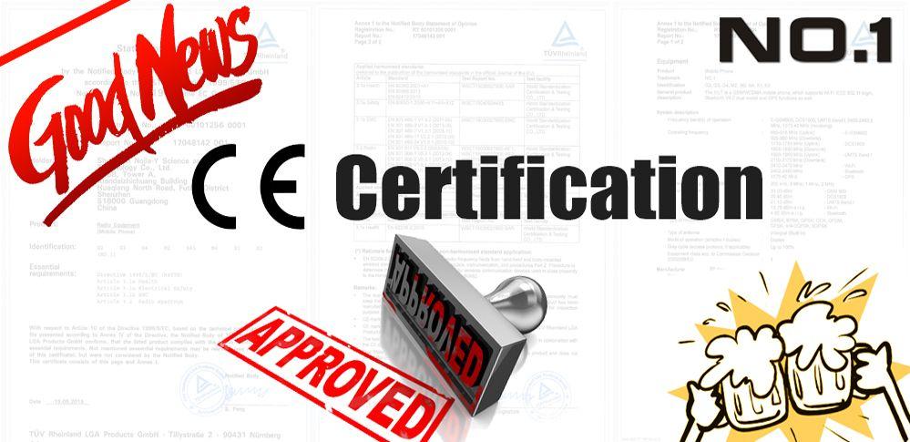 Actualidad No.1 recibe la certificación CE en muchos de sus productos