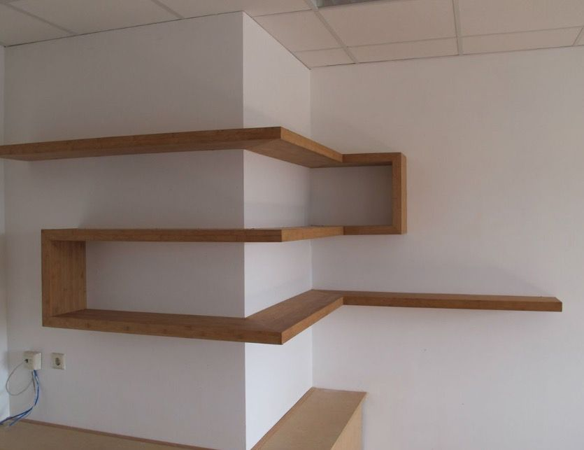 Interesting twist on shelving. Looks simple enough to do.