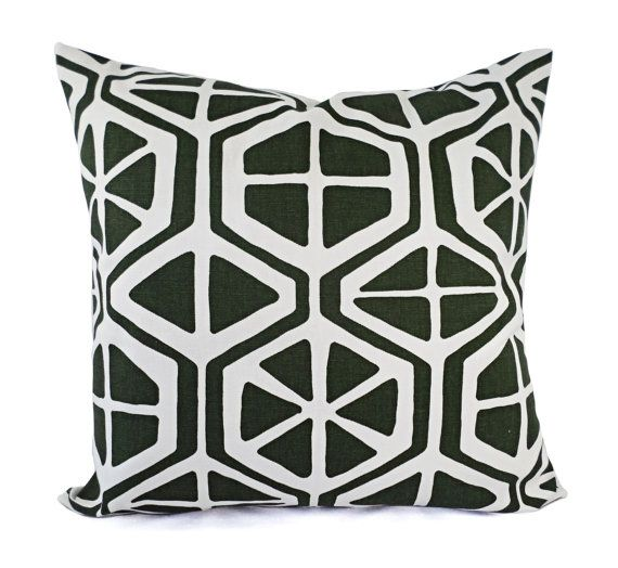 CLEARANCE One Green Decorative Pillow Cover Forest Green And White Adorable Clearance Decorative Pillows