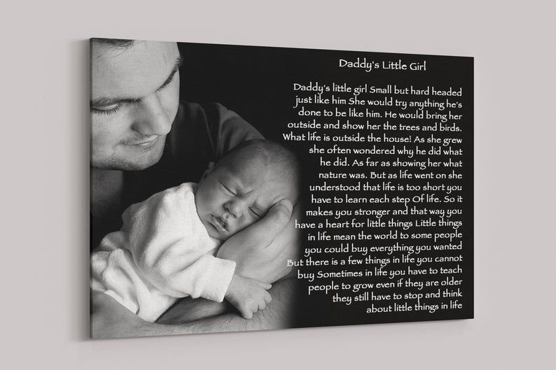 Daddy and daughter picture poem gift fathers day gift from