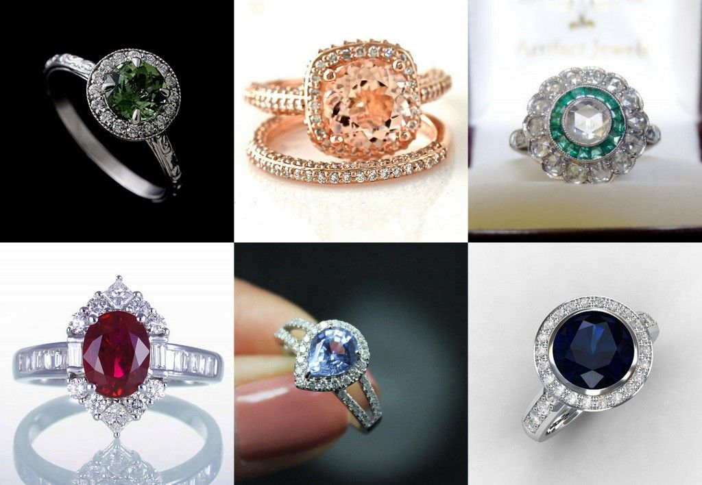 Coloured Engagement Rings Http Blog Weddingdates Ie Wedding Mood Board