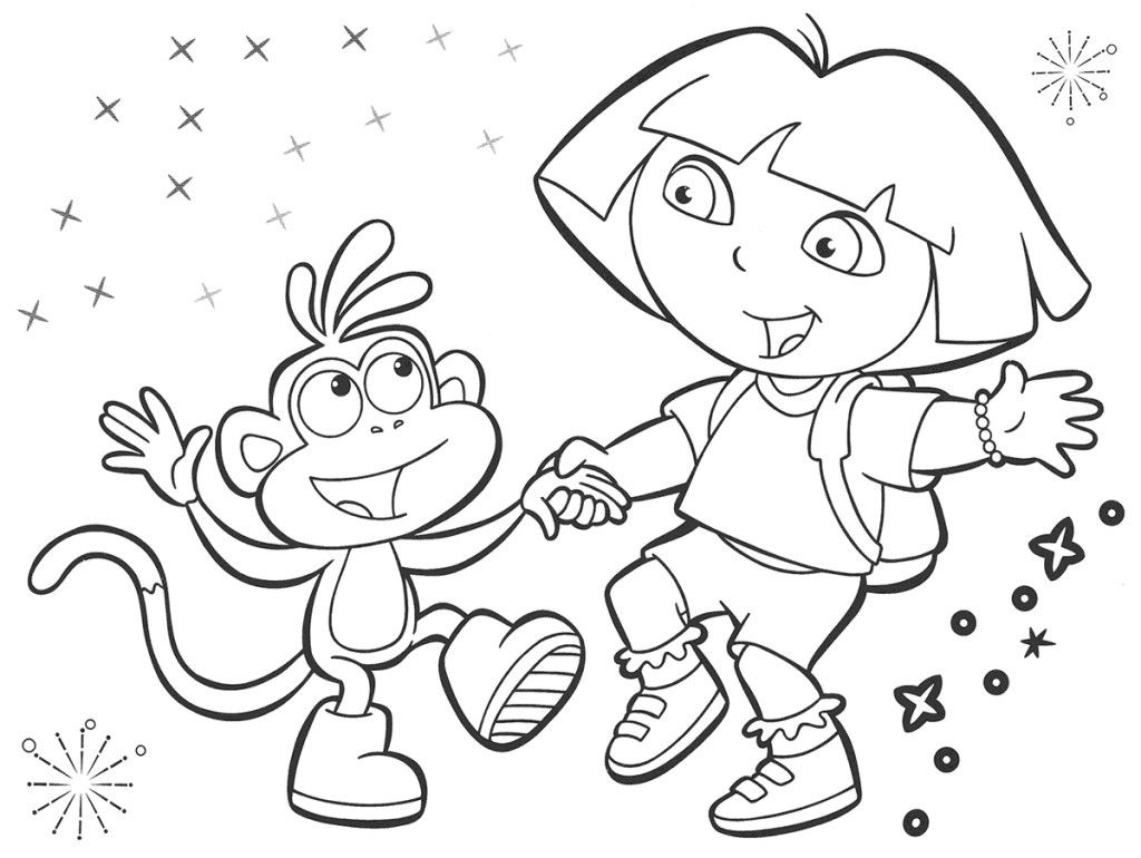 Dora the explorer coloring pages 03