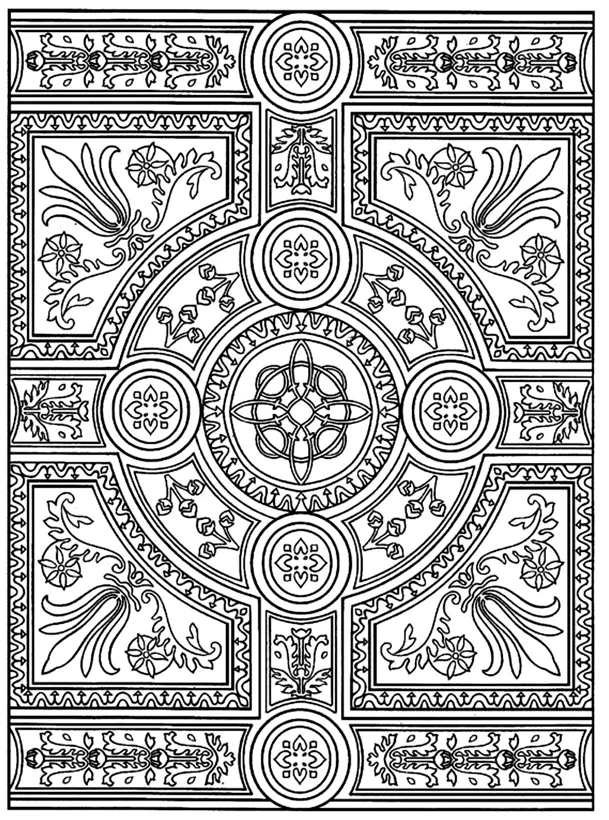 Free Coloring Page Coloring Adult Zen Anti Stress To Print Parquet