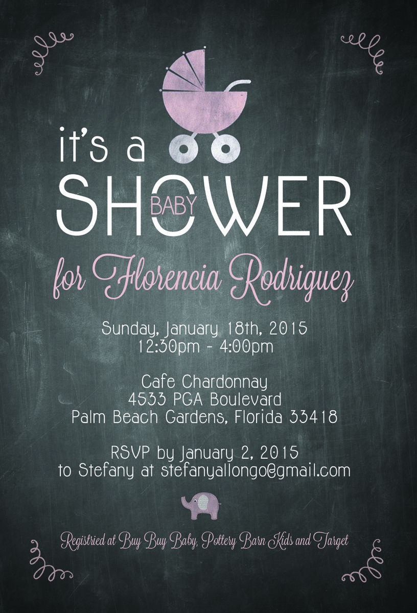 Adorable Baby Shower Invitation The Majestic Vision Wedding Planning Cafe Chardonnay In Palm Beach Fl Www Themajesticvision