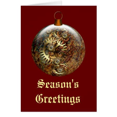 Steampunk Ornament Holiday Card - click/tap to personalize and buy
