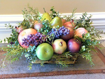 Pin By Marcie Turnbough On Home Decor Fruit Centerpieces Fruit Basket Gift Fruit Basket