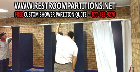 DIY Commercial Shower Restroom Stall Sales And Easy Installation - Bathroom partition installation instructions