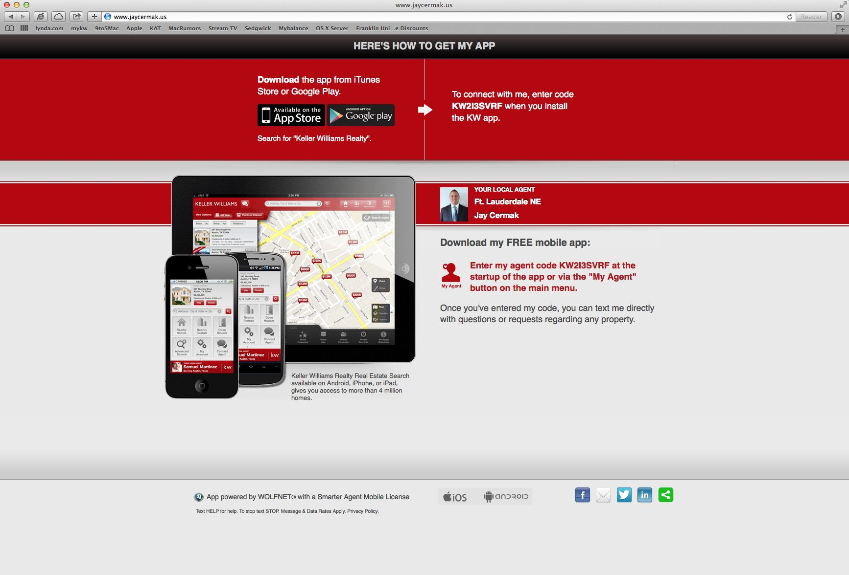 Download my Keller Williams Realty Real Estate Search App Today! If