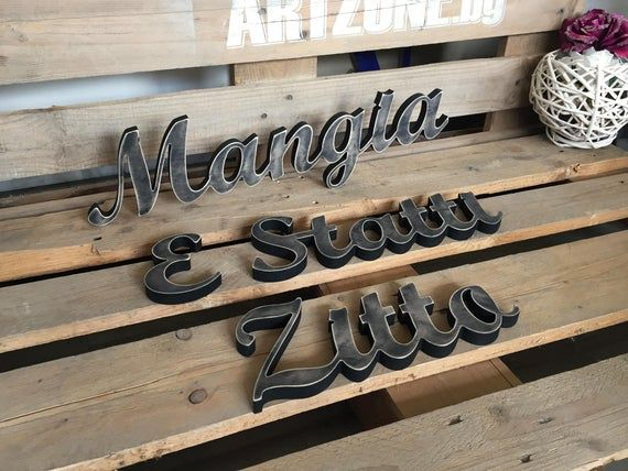 Italian kitchen sign Mangia E Statti Zitto - Italian ...