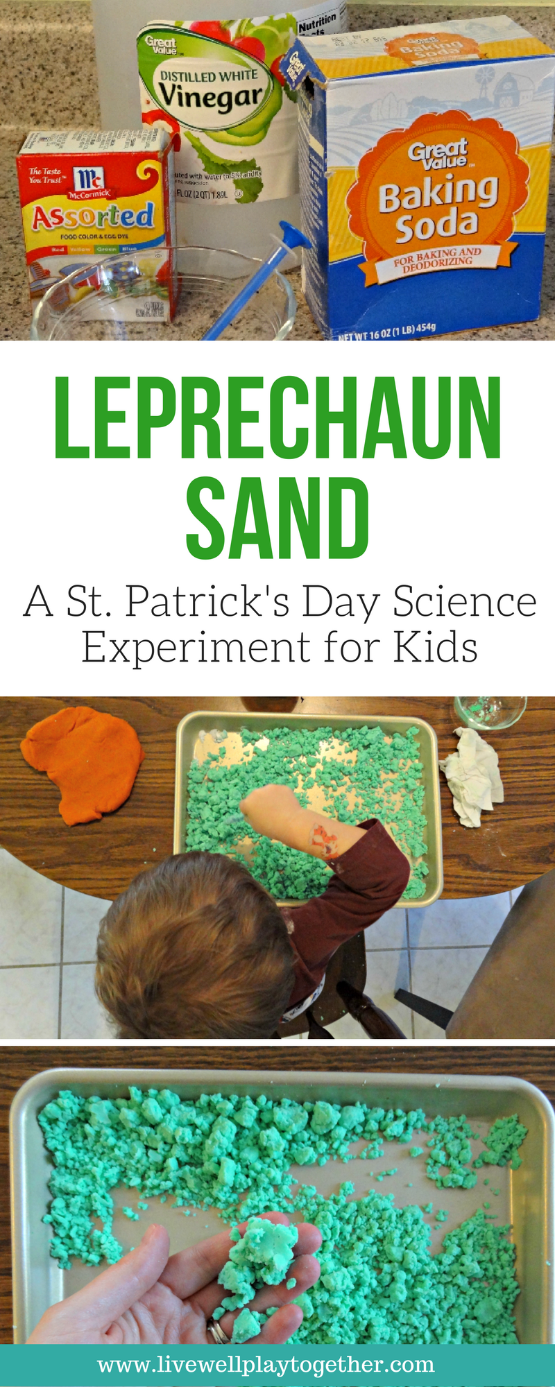 Leprechaun Sand: A Fun Science Experiment for Kids + Free Worksheet ...