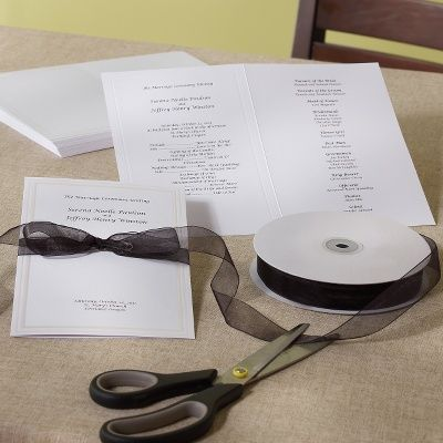 Hartford Wedding Program Paper Kit