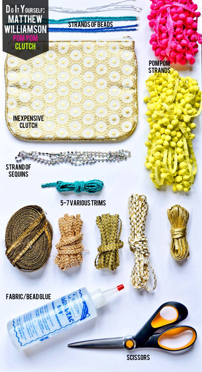 cute do-it-yourself clutch like the Matthew Williamson version going for $1,325.00  (via courtandhudson.com)