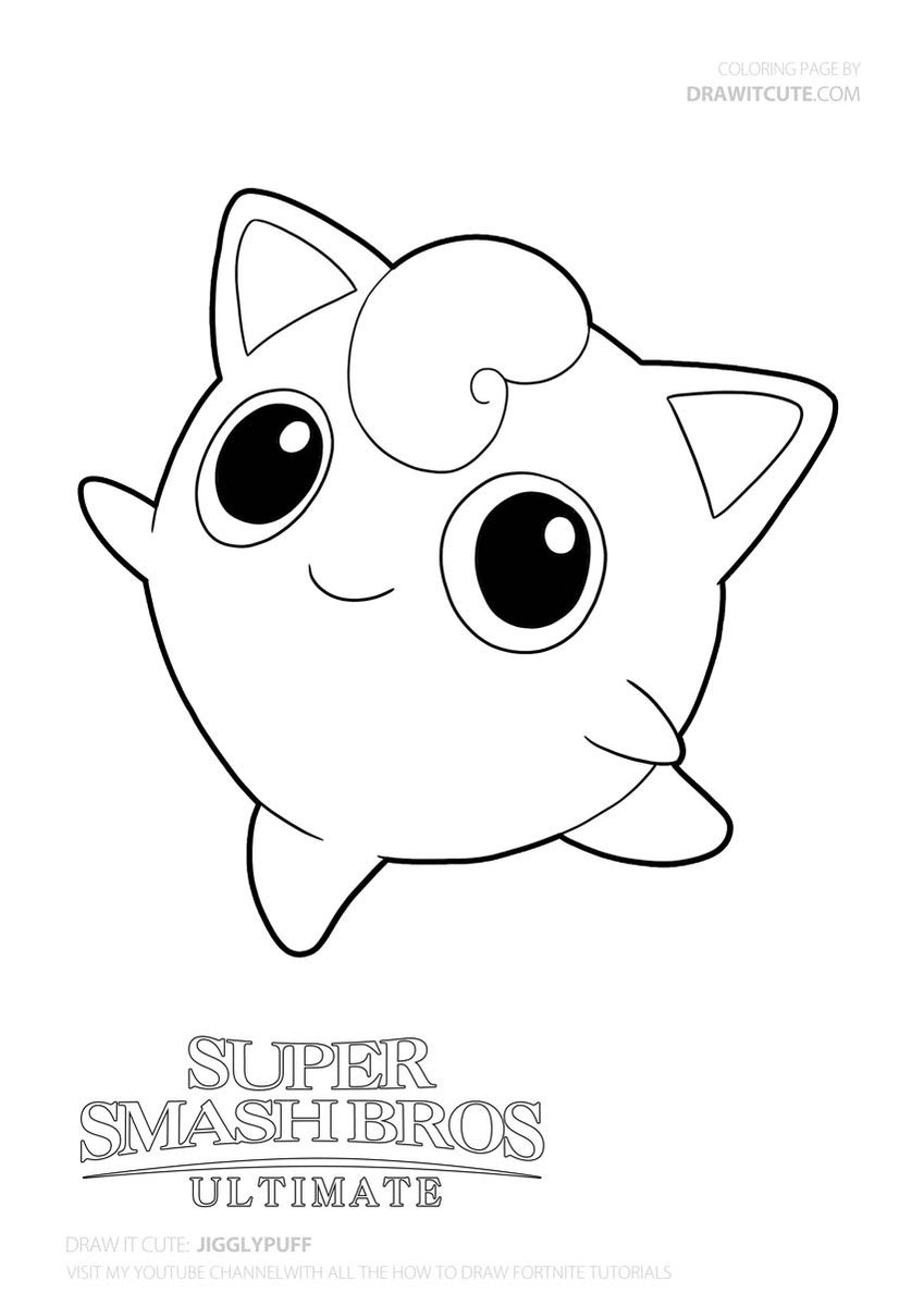 Jigglypuff Pokemongo Pokemon Drawitcute Howtodraw Coloringpages Fanart Wallpaper Pokemon Coloring Pages Pokemon Coloring Cute Coloring Pages